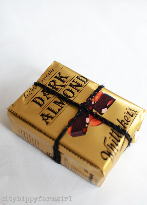 chocolate wrapping paper- cityhippyfarmgirl