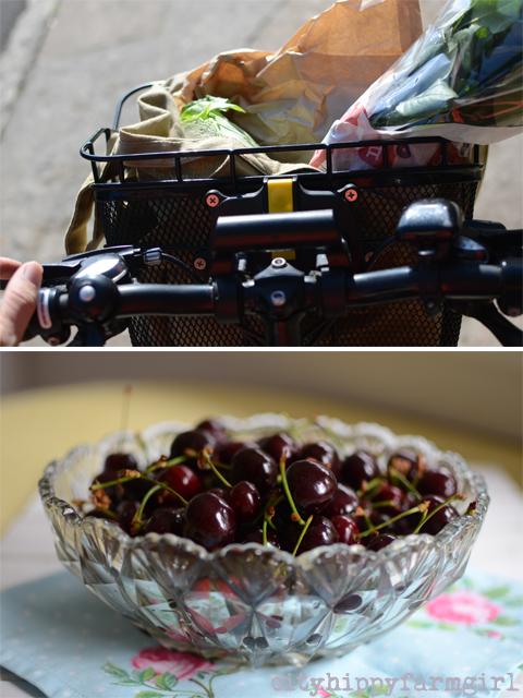farmers market cherries-cityhippyfarmgirl