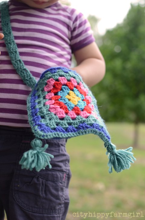 crocheted bag- cityhippyfarmgirl