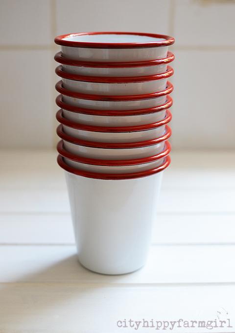 enamelware cups- cityhippyfarmgirl