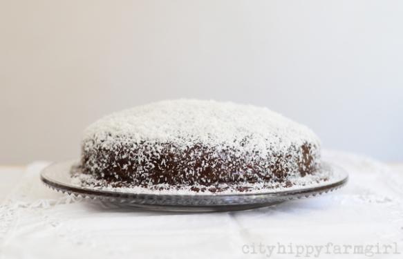 lamington cake- cityhippyfarmgirl