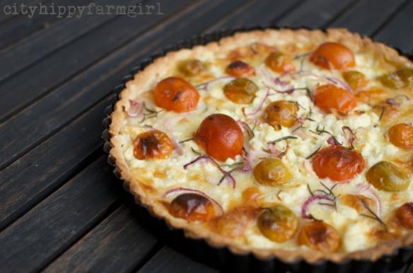 tomato and fetta tart || cityhippyfarmgirl