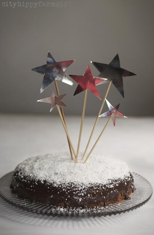 star lamington cake with condensed milk || cityhippyfarmgirl