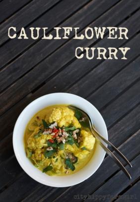 easy cauliflower curry recipe || cityhippyfarmgirl