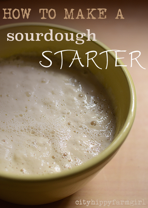 how to make a sourdough starter || cityhippyfarmgirl