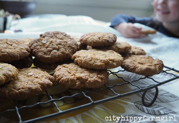 anzac biscuits || cityhippyfarmgirl