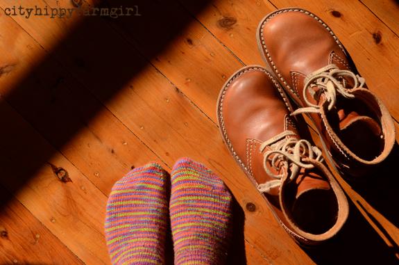 knitted socks and duck feet || cityhippyfarmgirl