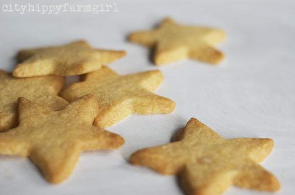 lemon and vanilla stars recipe || cityhippyfarmgirl