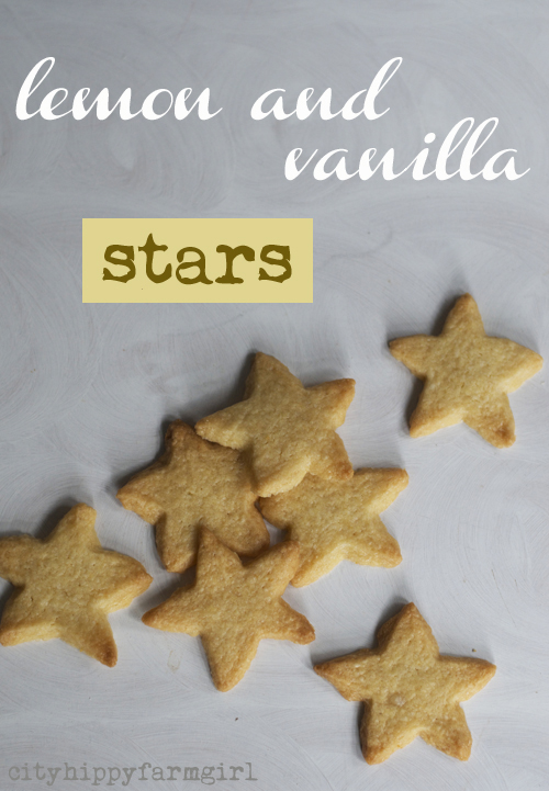 lemon and vanilla stars simple recipe || cityhippyfarmgirl