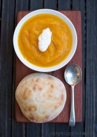 pumpkin and jerusalem artichoke soup || cityhippyfarmgirl