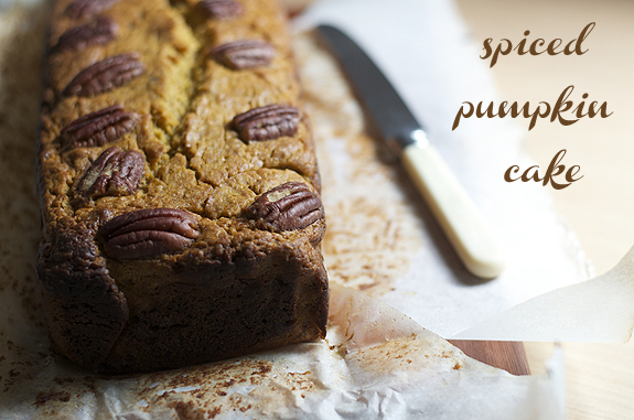 spiced pumpkin cake recipe || cityhippyfarmgirl
