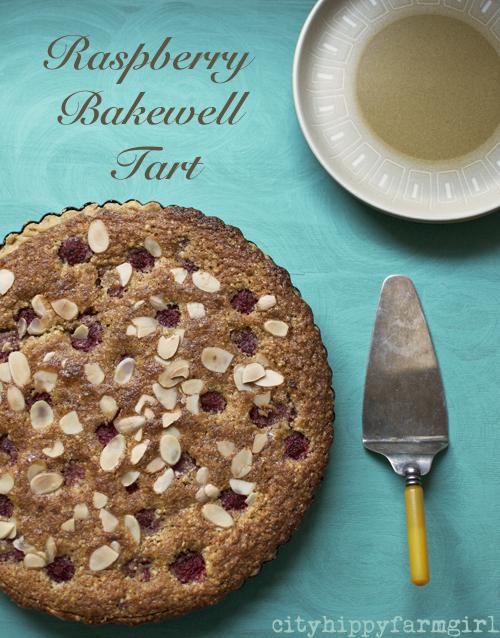 Raspberry Bakewell Tart easy recipe || cityhippyfarmgirl