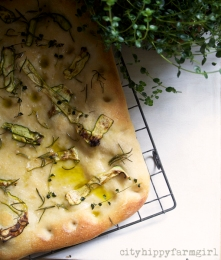 rosemary, thyme and zucchini bread || cityhippyfarmgirl