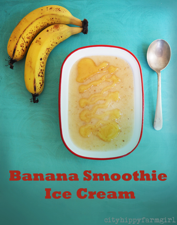 Banana Smoothie Ice Cream || cityhippyfarmgirl