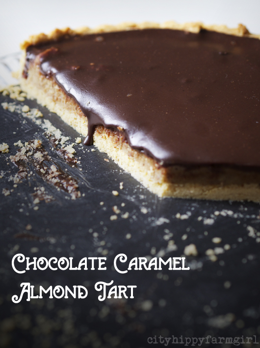 When you need to make a Chocolate Caramel Almond Tart ...