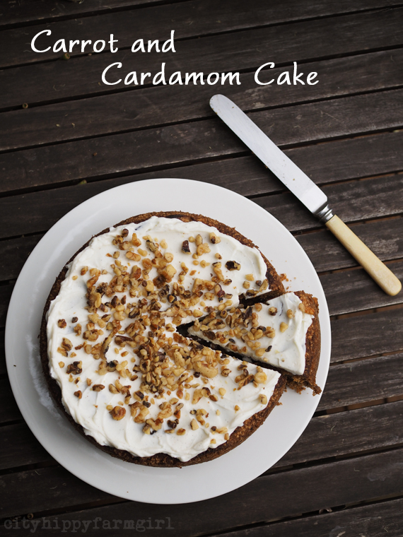 Carrot and Cardamom Cake || cityhippyfarmgirl