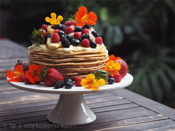 swedish pancake cake 1 || cityhippyfarmgirl