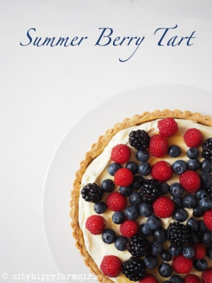 Summer Berry Tart    cityhippyfarmgirl