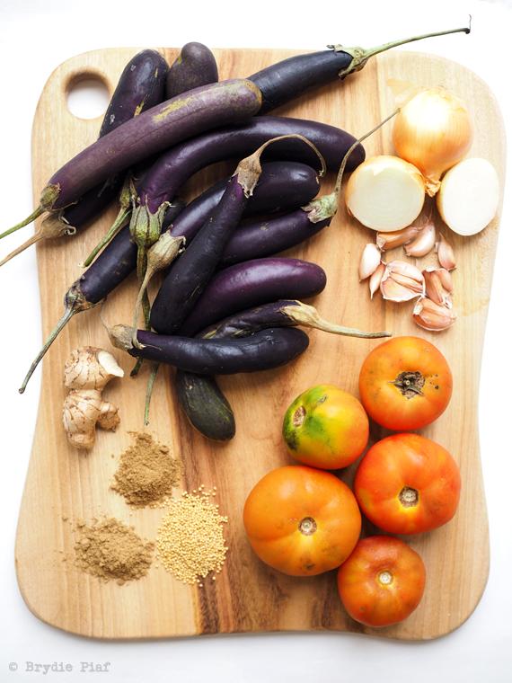eggplant kasundi || cityhippyfarmgirl